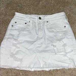 white american eagle skirt w holes